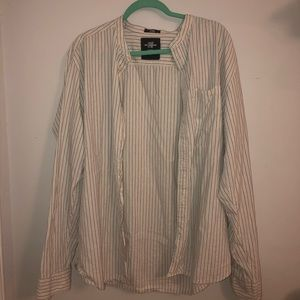 long sleeved button up stripped shirt